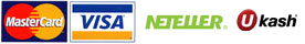 Visa, Mastercard, Neteller and ukash are accepted payment methods
